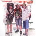 Enrico, Rafael y Lorenzo en el Amazonas
