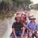 In barca in Amazzonia